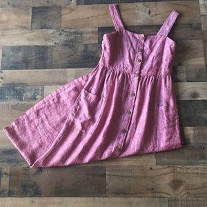 Rachel Zoe Red Button Down Linen Maxi Dress Size 4